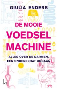 Mooie voedselmachine, darmen, boek